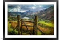 Valley Gate, Framed Mounted Print