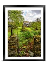 The Garden Gate, Framed Mounted Print