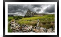 Ynys-y-Pandy Slate Mill, Framed Mounted Print