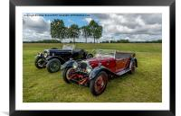 Classic cars, Framed Mounted Print