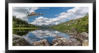 Vulcan Over Lake, Framed Mounted Print