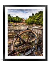 Mine Wheel, Framed Mounted Print