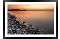 Ocean Stones, Framed Mounted Print