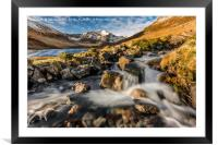 Glyder Fawr Mountains, Framed Mounted Print