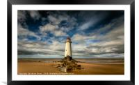 Lighthouse Point of Ayre, Framed Mounted Print