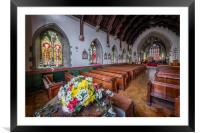 Christmas Church Flowers, Framed Mounted Print
