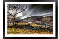 Peris Lake Snowdonia, Framed Mounted Print