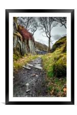 Quarry Barracks Snowdonia, Framed Mounted Print