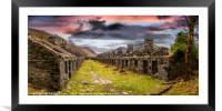 Quarry Sunset Snowdonia, Framed Mounted Print