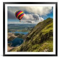 Snowdon Hot Air Balloon, Framed Mounted Print