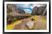 Dinorwic Slate Quarry Snowdonia, Framed Mounted Print