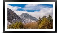 Tryfan Mountains East Face, Framed Mounted Print
