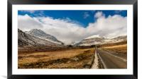 Mountain Highway Snowdonia, Framed Mounted Print