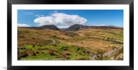 llyn Cowlyd Reservoir panorama, Framed Mounted Print