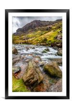 Llanberis Pass Snowdonia , Framed Mounted Print