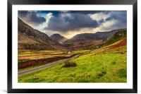 Roman Road To Snowdonia, Framed Mounted Print