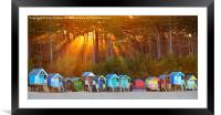 Wells next-the-sea beach huts, Framed Mounted Print