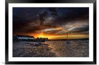 Burnham Overy Staithe sunset, Framed Mounted Print