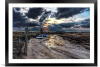 The old coal barn Thornham, Framed Mounted Print