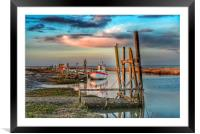 High tide at Thornham quay, Framed Mounted Print