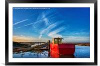 Fishing boat at Thornham, Framed Mounted Print