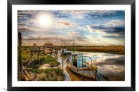 A perfect day at Thornham, Framed Mounted Print