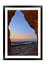 Sunset at Hunstanton, Framed Mounted Print