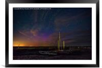 The Northern lights pay a visit south to Brancast, Framed Mounted Print
