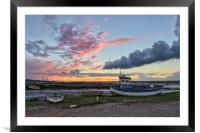 Sunset over the Staithe , Framed Mounted Print