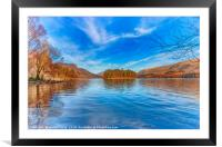 Hawes How Island - Thirlmere, Framed Mounted Print