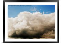 The Coming Storm, Framed Mounted Print