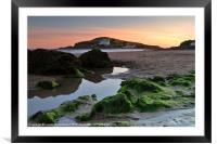 Bigbury-on-Sea and Burgh Island, Framed Mounted Print