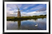 Turf Fen Drainage Mill, Framed Mounted Print