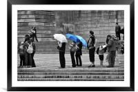 Rainy Day Queue, Framed Mounted Print