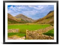 Wasdale Head and Great Gable, Lake District, Cumbr, Framed Mounted Print