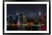 Lightning Over New York III, Framed Mounted Print