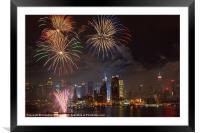 Hudson River Fireworks IV, Framed Mounted Print