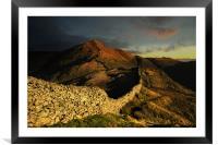 Sunrise over high pike, Framed Mounted Print