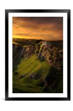 Peveril castle, Framed Mounted Print