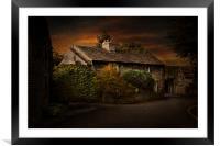 A cottage in Castleton, Framed Mounted Print