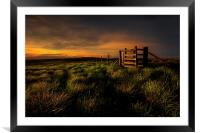 Moorland mood,, Framed Mounted Print