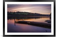 Damflask Reservoir Sunset, Framed Mounted Print