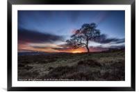 The Long Sunset, Framed Mounted Print