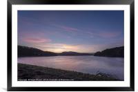 Damflask at Sunset, Framed Mounted Print