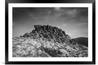 Crook Hill Summit, Framed Mounted Print