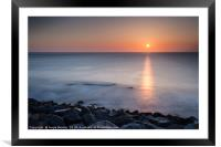 Seaham Sunrise, Framed Mounted Print