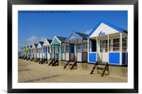 Southwold beach huts , Framed Mounted Print