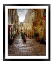 Valletta Street, Framed Mounted Print