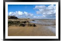 Walton on the Naze beach, Framed Mounted Print
