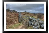 Path to Hound Tor, Framed Mounted Print